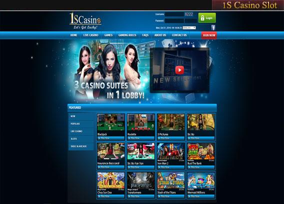 1scasino slot online